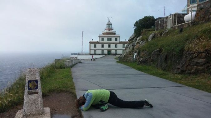 Resting half pigeon helped me throughout the camino