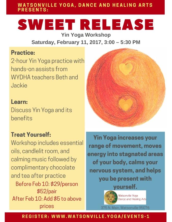 sweet release workshop flyer